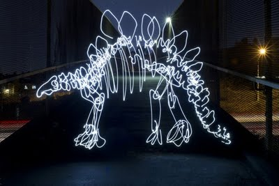 Dinosaurs Painted With Light